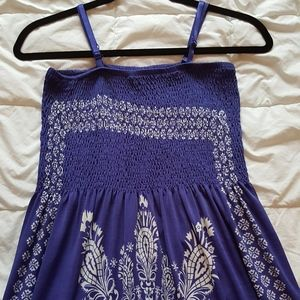 XS Blue Floral Maxi Sundress